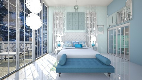 Ice Princess room  - Glamour - Bedroom  - by fashiondesigner7