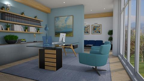 Blue office - Office  - by Thrud45