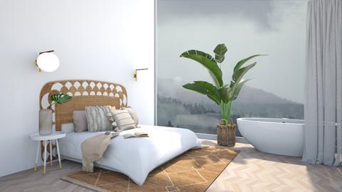 M I S T Y  B E D R O O M - Minimal - Bedroom  - by aestheticXdesigns
