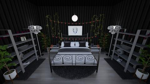 symmetrical kitchen - Retro - Bedroom  - by Paris Ceasar