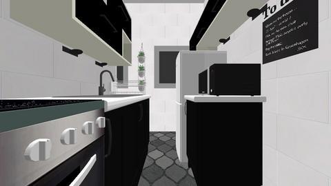 Cozinha e lavanderia - Kitchen - by jescaline95