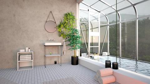 greenhouse bathroom - Eclectic - Bathroom  - by Thepanneledroom