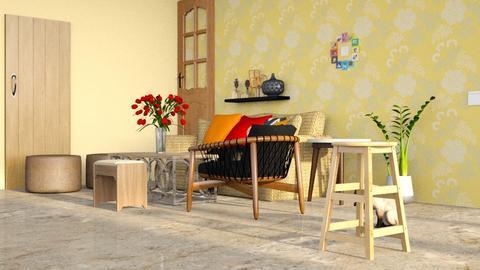 Darshan - Rustic - Living room  - by jiltsheth