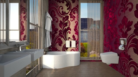 Purple Cream - Bathroom  - by Cailyn V