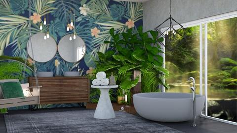 urban jungle bathroom  - Bathroom - by  katie