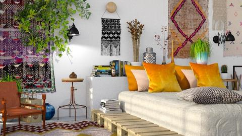 bedroom boho - Bedroom  - by bnu