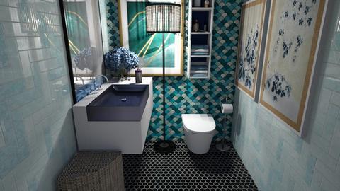 Arty bathroom - Bathroom  - by L2021