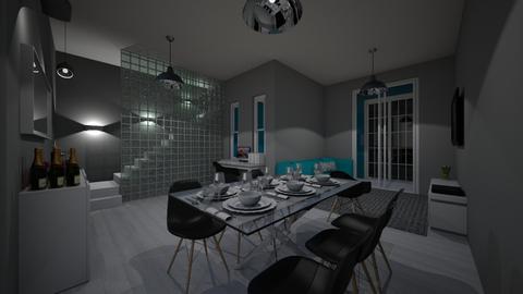 casa andar 1 - Rustic - Living room  - by kelly lucena