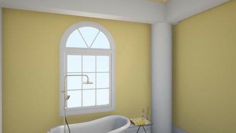Yellow Bathroom - Rustic - Bathroom  - by savgriffin