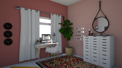 white_yellow_pink girly  - Rustic - Office - by yaelygreen