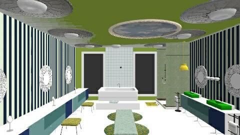 MINT BLUE BATH  - Glamour - Bathroom  - by lovemydecor
