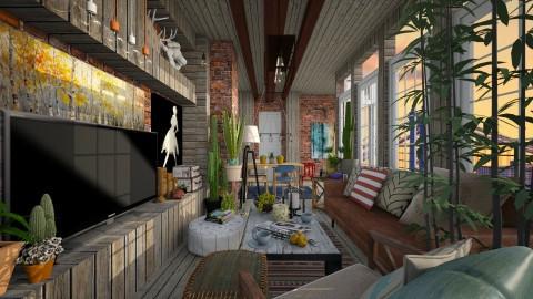 TreeOfLife_LivingnDining_ - Eclectic - Living room  - by atiyahanisah