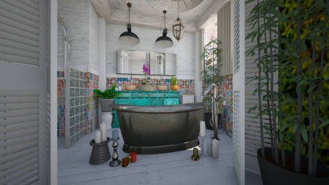 bath in the rust - Rustic - Bathroom  - by Evangeline_The_Unicorn