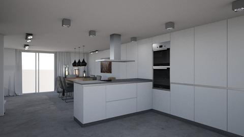 kitchen new 2 and dining  - Modern - Kitchen  - by eliskat