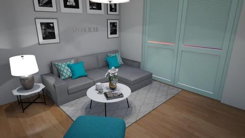 Turquoise - Living room - by norkis