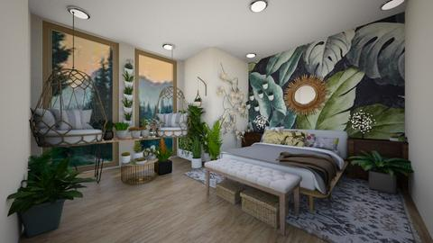 Nature Inspired Bedroom - Bedroom  - by Feeny