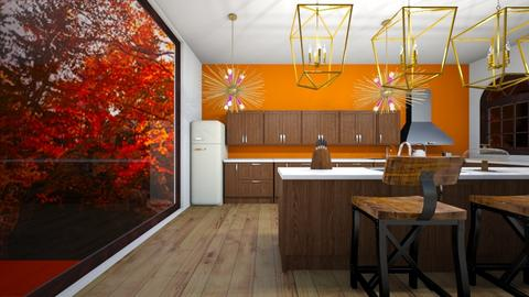 Autumn Kitchen - Retro - Kitchen  - by Agamanta