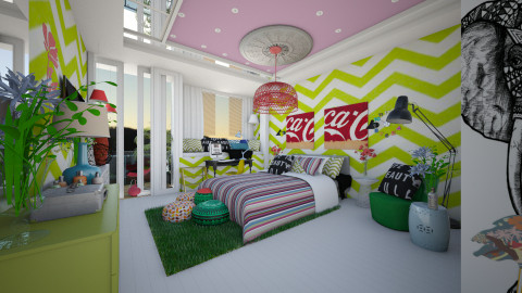 vibrant design - Modern - Bedroom  - by Evangeline_The_Unicorn