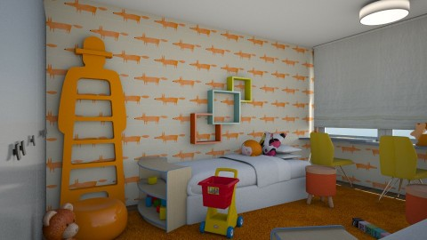 Floor Plan  - Kids room  - by chania