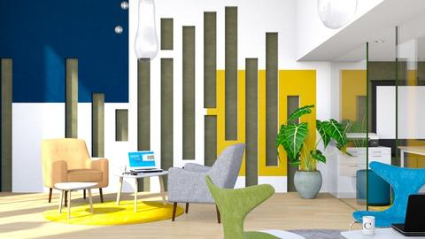 Green Blue Yellow - Office - by ArtHousedeco