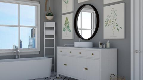 grey - Modern - Bathroom  - by NEVERQUITDESIGNIT