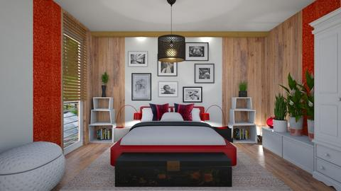 red one  bedroom - Bedroom - by ewcia3666
