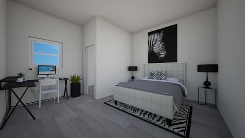 Zebra Room - Modern - Bedroom  - by teyaandashylnn