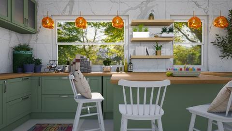 Green Kitchen - Minimal - Kitchen  - by deleted_1533572626_Gabby Lovell