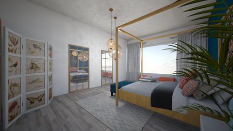 Bohemian Bedroom - Bedroom  - by Callmekai22