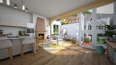 farm house  - Kitchen - by hollygilder