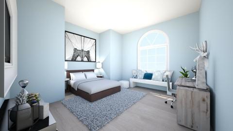 Blue Bedroom - Bedroom  - by violetpeaks