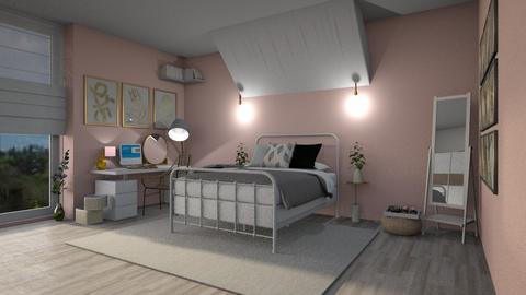 pink purple bedroom - Bedroom  - by irisrmks