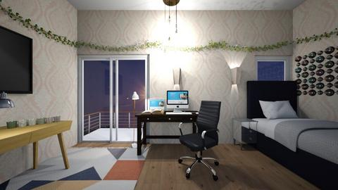 Office room - Classic - Bedroom  - by kiwimelon711