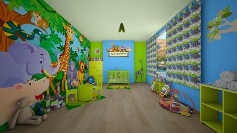 Jungle Theme Nursery - Kids room  - by creato