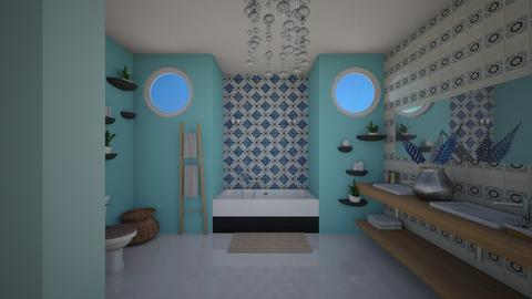 BATH - Bathroom  - by Almadeflores
