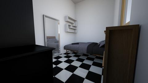 Habitacion  - Minimal - Bedroom  - by calejmorales