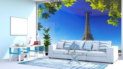 Peaceful blue office - Office  - by Oyisha