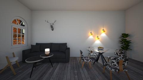 Grey Living - Living room - by KittyPrincess77