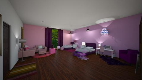 Pink and Purple - Bedroom  - by 29catsRcool