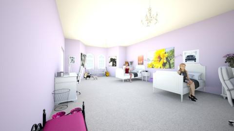 Twin Girls room - Vintage - Bedroom  - by saz_mel