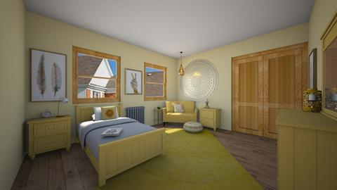 Sunshine Bedroom - Bedroom  - by chocolatedonut71