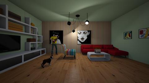 stripes - Living room - by Katarina1999