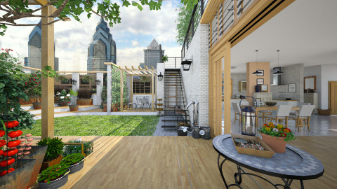 Rooftop Garden - Eclectic - Garden - by evahassing