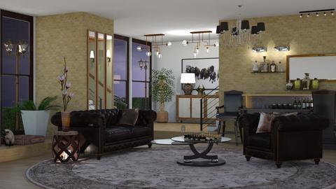 living room and chandelie - Living room  - by nat mi