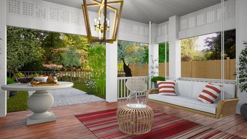 Southern Porch - Garden  - by yonvie