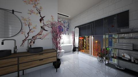 Cherry Blossom Bathroom - Bathroom  - by matina1976