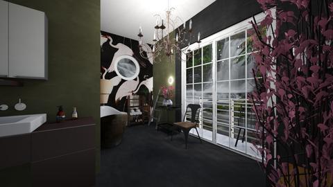 Cherry Blossom Bathroom - Bathroom  - by rechnaya