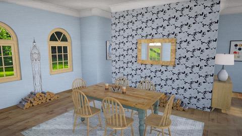 Minimal Farmhouse Vibe - Dining room - by inkblot01