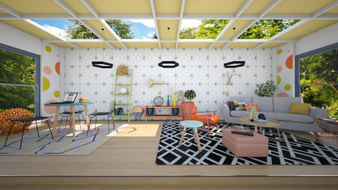Colouring Outside the Lines - Eclectic - Living room - by evahassing