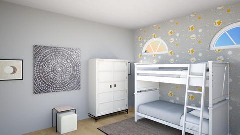 kids room 8 - Retro - Bedroom  - by katemarsh